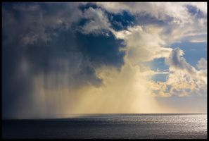 Shower over sea by AdriaticWeather