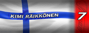 Kimi Raikkonen - Finnish flag Facebook cover by Ratmanxx