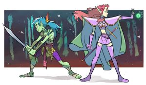 the jungle warrior and the elf princess by Sofia-