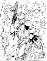 Commander Gree inked by JoeyVazquez
