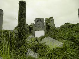 ruin reconquered by nature by TanteTabata