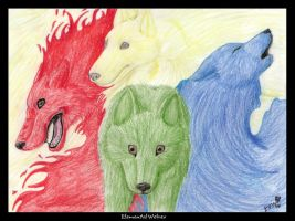 Elemental Wolves by Toru-Inu