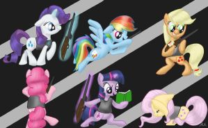 Mane 6 paintball by StardogChampion94