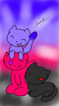 Lspisaxemax(purple), AAcutie(pink), and Me(black)! by Maridee23