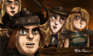 Hiccup and the Soup Bowl 13 by masterrohan