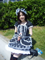 cosplay maid by palmereap