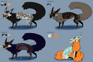 Heat fox adoptables by Sedoris