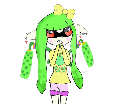 Neon-Senpai Inkling by amy-the-weeaboo