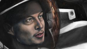 Elon Musk Portrait - SpaceX by Lewis3222