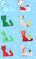 Christmas Adoptables-Batch 2 by xXPastelWishesXx