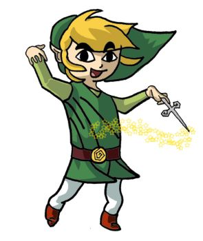Toon Link In Colour by dchurches