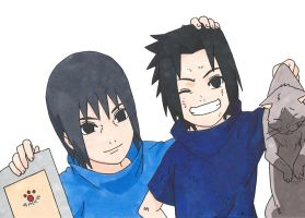 Sasuke and Itachi Uchiha by Ocraxhaydon