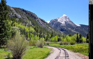 Mountain Landscape With Train Tracks by DamselStock