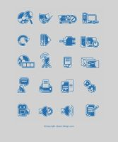 Blue Web Icons by ScriptKiddy
