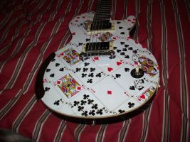 Card Guitar by manofwisdom
