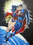 Superman Wonder Woman Kiss by StaticBat83