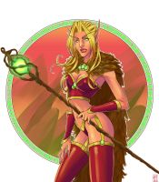 blood elf mage by spectr00m