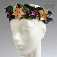 Autumn Floral Leather Crown by Beadmask