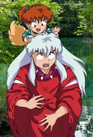 Shippo and Inuyasha by irishgirl982