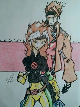 Rogue  Gambit: X-Men by Tazartist19