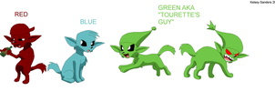 DF: Red, Blue, and Green by KelseyEdward