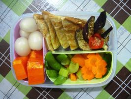 sandwich bento by plainordinary1