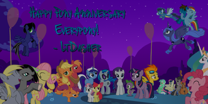 MLPFIM One Year Anniversary by LtDasher