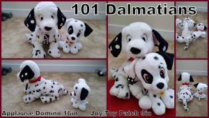 Applause Domino 16in and Joytoy Patch 9in by Vesperwolfy87