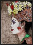 Balinese Girl - ATC by faeorain