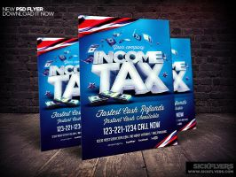 Income Tax Flyer Template by Industrykidz