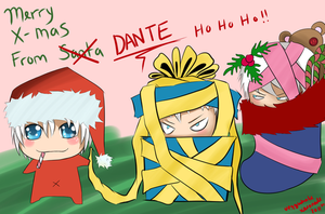Merry X-mas from Chibi Dante by xeronade