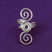 Triple Spiral Ear Cuff by sylva