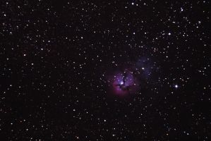 Messier 20, The Trifid Nebula at Fort Griffin by phrostie