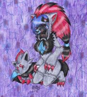 Zoroark Hunting by TheHuntingWolf