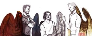 Avengers Wing AU by Cranity