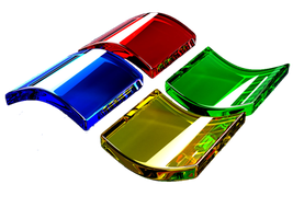 Windows Logo Glass 3D Icon by audio90