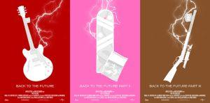 Minimal Posters: Back to the Future Trilogy by NewRandombell