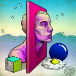 Fragmented random thoughts and fried egg by ismaComics