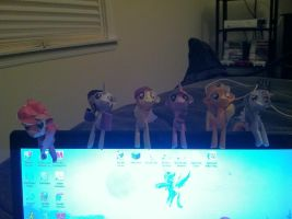Mane Six... on my Computer by Cafante