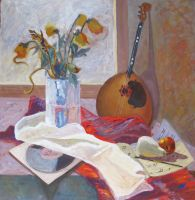 Still life with mandolin by Luzblanca