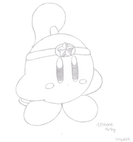 Stone Kirby - drawn by water-kirby