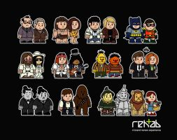 Mitesized famous partners by Nemons