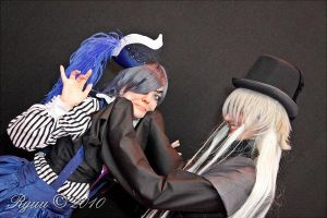 Ciel and Undertaker - Come on smile little boy by Bunnymoon-Cosplay