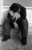 Homeless and Cat by soneryaman