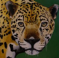 Leopard Oil Painting by Mau-Ve