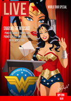 Wonder Woman LIVE magazine by DESPOP