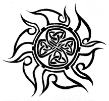 Celtic sun tattoo by MordredLeFay