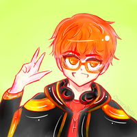 Mystic Messenger 707, Bright and Happy by oscurabella