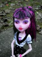 Monster High OOAK - Charity Blackblood by aurieth-mynonys