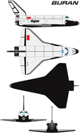 Space shuttle buran by bagera3005